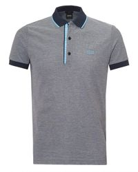 BOSS Athleisure - Gray Paule 4 Polo Shirt, Cotton Piqué Grey Polo for Men - Lyst