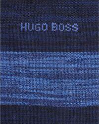 BOSS - Rs Design Navy Blue Striped Sock for Men - Lyst