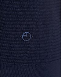 Armani - Jumper, Diamond Ribbed Crew Neck Blue Sweater for Men - Lyst