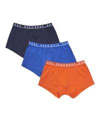 BOSS Black - Trunk 3p Co/el Orange Navy Blue Boxer Shorts for Men - Lyst