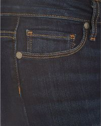 PAIGE - Blue Skyline Ankle Peg Jean, Super Rebellious Skinny Dark Denim - Lyst