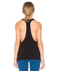 Beyond Yoga - Black Just Your Stripe Racerback Tank - Lyst