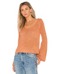 MINKPINK - Orange Beau Lace Side Sweater - Lyst
