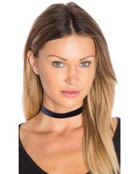 Vanessa Mooney - Black Velvet Choker - Lyst