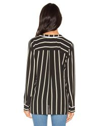 1.STATE | Black High-low Pocket Blouse | Lyst