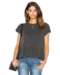 The Great - Black The Ruffle Tee - Lyst