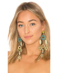 Marc Jacobs - Multicolor Jeweled Statement Earring In Metallic Gold. - Lyst