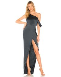 Michelle Mason | Blue X Revolve Draped Shoulder Gown | Lyst