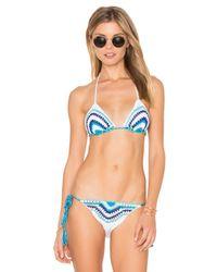 Anna Kosturova | Blue Amalfi Bikini Top | Lyst
