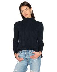525 America   Blue Mock Neck Sweater   Lyst