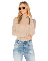 Vince | Natural Cowl Long Sleeve Tee | Lyst