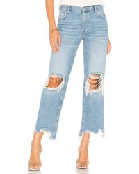 Free People - Blue Maggie Straight Jean - Lyst