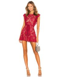 MAJORELLE - Red Marnie Mini Dress - Lyst
