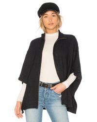 Bobi - Blue Sweater Rib Cape - Lyst