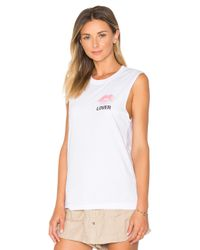 A Fine Line - White Lover Abby Tank - Lyst