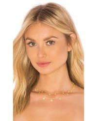 Natalie B. Jewelry - Metallic X Revolve Eden Double Choker - Lyst