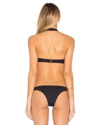 F E L L A Black Gabe Cut Out Bikini Top