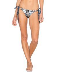 Beach Bunny | Blue Siren's Song Tie Side Skimpy Bikini Bottom | Lyst