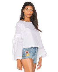 Free People | White So Obviously Yours Top | Lyst