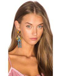 Elizabeth Cole | Blue Chiquita Statement Earrings | Lyst