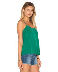 American Vintage - Green Riswell V Neck Tank - Lyst