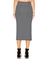 ATM - Black Striped Rib Skirt - Lyst
