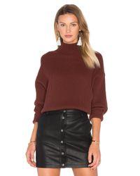 Autumn Cashmere | Multicolor Oversized Mock Neck Sweater | Lyst