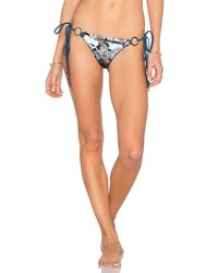 Beach Bunny | Blue Siren's Song Tie Side Skimpy Bikini Bottom | Lyst
