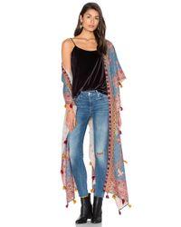 Hemant & Nandita | Blue Tassel Kimono | Lyst