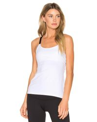 Beyond Yoga | White Live Free Or Tie Hard Tank | Lyst