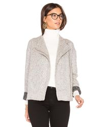 BCBGeneration | White Asymmetric Zip Jacket | Lyst