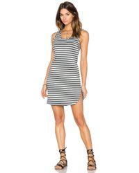 Bobi - Gray Cashmere Terry Stripe Midi Tank Dress - Lyst