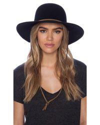 Lyst - Brixton Tiller Wide Brim Hat in Black for Men d128bbed477