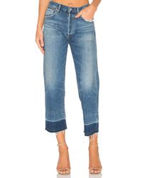 Citizens of Humanity | Blue Cora Crop Undone Hem | Lyst