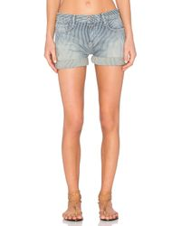 Current/Elliott | Blue The Boyfriend Roll Short | Lyst