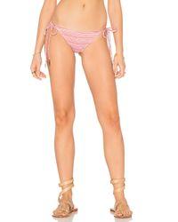 Eberjey | Pink Cherokee Heart Eva Bikini Bottom | Lyst