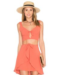 For Love & Lemons | Pink Sweet Jane Top | Lyst