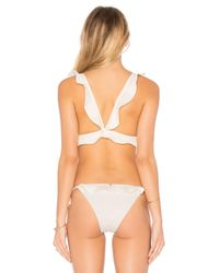 For Love & Lemons - White Corsica Lacey Ruffle Top - Lyst