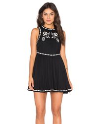 Free People | Black Delightful Birds Of Feather Dress | Lyst