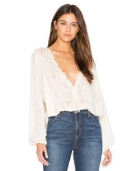 Free People | White Desert Sands Top | Lyst