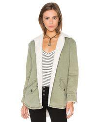 Monrow   Multicolor Vegan Sherpa Lined Shirt Jacket   Lyst