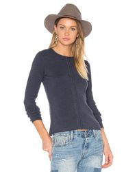 INHABIT | Blue Filigree Sweater | Lyst