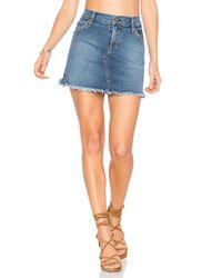 James Jeans | Blue Mia Cut Off Mini Skirt | Lyst