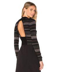 Kendall + Kylie | Multicolor Lurex Stripe Long Sleeve Sweater | Lyst