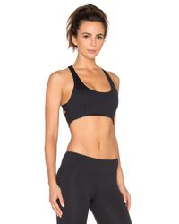 Lanston - Black Sport Cross Back Bra - Lyst