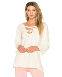 Line & Dot | Natural Larch Lace Up Top | Lyst