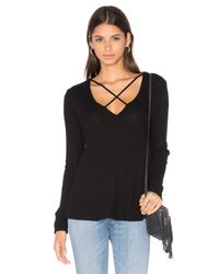 LNA | Black Cross Strap Sweater | Lyst