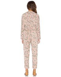 Lucca Couture Multicolor Front Tie Long Sleeve Pantsuit