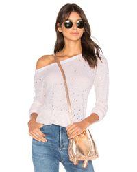 Michael Stars | Pink Textured Sweatshirt | Lyst