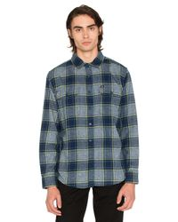 Obey | Blue Wilcox Button Down for Men | Lyst